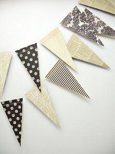 Voilà Vintage 6ft. Pennant *** Vintage Wedding Garland, Vintage Baby Shower, Shabby Chic Decor, French Style Party *** on Etsy, $9.30