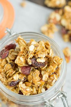 Dried Cherry Almond Granola Clusters is a fabulous homemade granola that is so easy. This granola recipe is h
