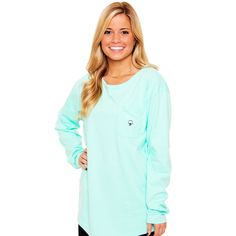 Kimmy Boatneck Long Sleeve Tee in Tidal Green by The Southern Shirt Co.-X-Large