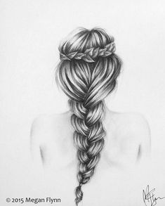 Charcoal Drawing Tips Original charcoal drawing of Jasmine by Villekula on Etsy - How To Draw Braids, How To Draw Hair, Drawing Techniques, Drawing Tips, Drawing Ideas, Pencil Art Drawings, Easy Drawings, Charcoal Drawings, Drawing Hair Braid