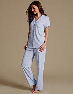 Modal Blend Daisy Print Pyjamas