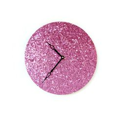 Hey, I found this really awesome Etsy listing at https://www.etsy.com/listing/249288959/pink-wall-clock-home-decor-home-and