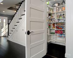 pantry storage under stairs