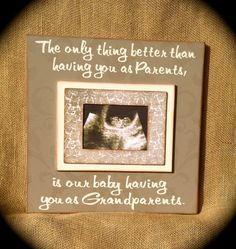 pregnancy announcement sonogram grandparents - Google Search