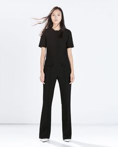 ZARA - WOMAN - FITTED JUMPSUIT WITH FLAP POCKETS