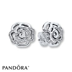 d078ee26a ... bnwb genuine pandora rose gold stud earrings mothers day 286272cz 62d53  05fb4 discount code for rose petals shimmer with clear cubic zirconia  accents in ...
