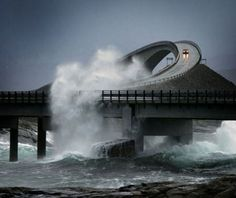 The Atlantic Ocean Road in Norway. I MUST go to Norway (eventually) and experience this amazing road … but not during a storm. Norway is a totally fascinating place. (there are several more photos of the Atlantic Ocean Road on this board) Places Around The World, Oh The Places You'll Go, Places To Travel, Places To Visit, Lofoten, Atlantic Road Norway, Atlantic Ocean, Beautiful World, Beautiful Places