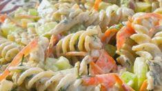 Greek Recipes, Vegan Recipes, Pasta Dishes, Cooking Time, Pasta Salad, Salad Recipes, Food Processor Recipes, Sushi, Salads