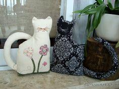 O gato e sua gata - peso de porta