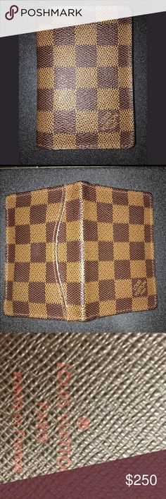Louis Vuitton Damier Ebene Card Case Slight signs of use, but over all good condition. Louis Vuitton Bags Wallets