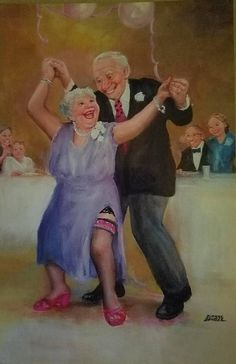 Tanzen Bailar The post Bailar appeared first on Crystal Wilson. Funny Anniversary Cards, Growing Old Together, Old Couples, Old Folks, Old Love, Young At Heart, Dance Art, Funny Art, Illustrations