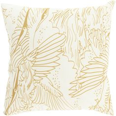 Delicate beauty. The soft and sweet style of this lovely pillow make it a stylish accent to a sofa or loveseat.