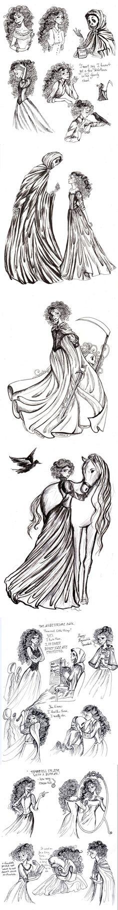 Susan Sto Helit doodles by La-Chapeliere-Folle.deviantart.com on @DeviantArt