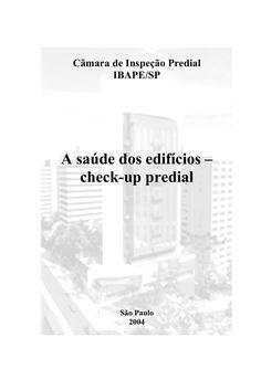 34772711 a-saude-dos-edificios-check-up-predial by mjmcreatore via slideshare