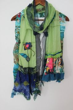 Green scarves, women s cotton shawls, forest green scarf, shawl applique,  handmade scarves ff42355ccce4