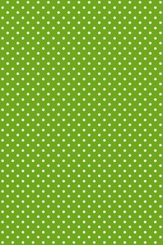 Green and white polka dots, St. Patrick's day