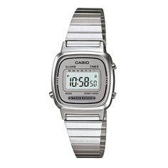 3f92f67e3fb Relógio Casio Vintage Feminino Prata Digital LA670WA-7DF Casio Classic