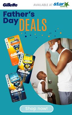Celebrate dad this Father's Day with great deals on Gillette shaving products at Star Market! Melatonin Gummies, Head And Shoulders Shampoo, Father's Day Deals, Nighttime Sleep Aid, Shed Makeover, Gillette Fusion, Old Spice, Shaving Products, Friends