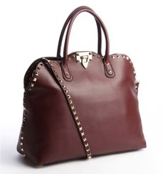 VALENTINO Ruby Leather Studded Convertible Tote