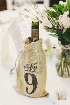 Nice idea for table numbers