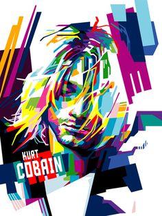 Arte Pop, Kurt Cobain Art, Nirvana Art, Musik Illustration, Image Rock, Polygon Art, Pop Art Portraits, Pop Rock, Music Artwork