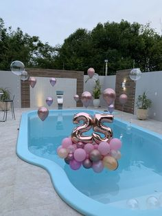 "Swimming party 🌊🏊‍♂️🎈 - "" Best Picture For trends nails For Your Taste You are looking for something, and it is going t - 21st Birthday Decorations, Pool Party Decorations, 18th Birthday Party, Balloon Decorations, Birthday Goals, Tropical Party, Birthday Balloons, Sweet Sixteen, Party Planning"