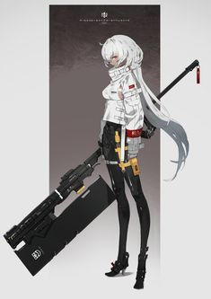 Cute Anime Boy, Anime Art Girl, Character Design References, Character Art, Character Concept, Anime Military, Weapon Concept Art, Warrior Girl, Sci Fi Characters