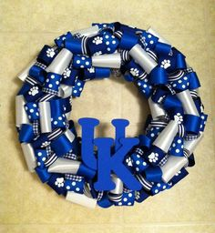 University of Kentucky Ribbon Wreath
