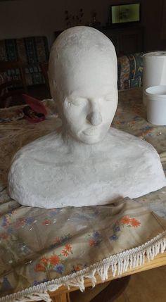Head Lifecasting Sculpture, Statue, Art, Art Background, Kunst, Sculptures, Performing Arts, Sculpting, Carving