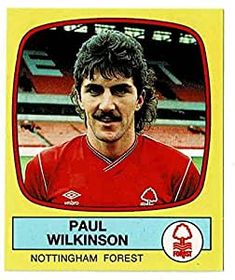 Paul Wilkinson of Nottingham Forest - Football 88 - Panini - English & Scottish Leagues Nottingham Forest, Football Season, English, English Language