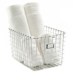Our chrome wire locker basket is an organizational solution with a modern appeal in design. This metal basket is ideal for home organization, such as bathroom necessities or in closets. This wire bin is constructed of sturdy chrome material and will provi Wire Basket Storage, Wire Storage, Metal Baskets, Laundry Room Storage, Pantry Storage, Closet Storage, Storage Organizers, Container Organization, Storage Containers