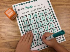 Develop number fluency and number sequence with this activity that's perfect for math bins, centers, home practice, or assessment! Students roll a number cube, record the number, and then count on or count backwards. Easy to differentiate by using two number cubes, a spinner, etc…   Also included is an editable version where you choose the target numbers and type them in before printing. A great option for assessment!
