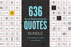 636 Social Media Quotes BUNDLE by sagesmask on @creativemarket
