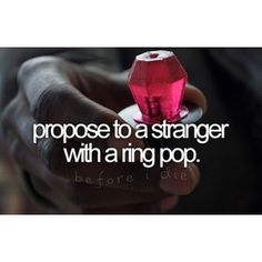 OMGosh, this would be so fun. (I'm already married - any takers that wanna let me watch??) Couldn't be a bad thing for the person being proposed to, right?