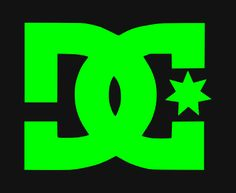 DC logo with black backround Sticker