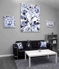 Diamond paintings by Angie Crabtree www.angiecrabtree.com Crystal Tattoo, Couch, Interior, Wall, Jewerly, Diamonds, Bling, Paintings, Inspiration