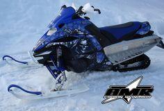 Snowmobile Graphics - Yamaha FX Nytro - Reaper Blue
