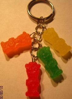 She even has a Gummy Bear one!  Sour Patch Kids KeyChain on Etsy, $7.00
