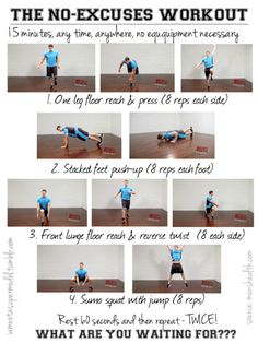the no-excuses workout or hotel room workout; men's health