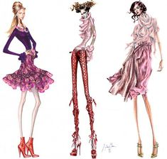 Fashion illustration by Arturo Elena