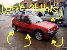 eBay: 1989 1.9 PEUGEOT 205 GTI RED BARN FIND RESTORATION DRY STORED