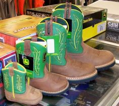 <3 John Deere Baby Boots!! Will for sure need if Justin is still working at the john deere house when little ones come along!