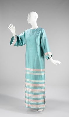 Evening dress, House of Givenchy, Designer Hubert de Givenchy, ca. 1968, French, silk