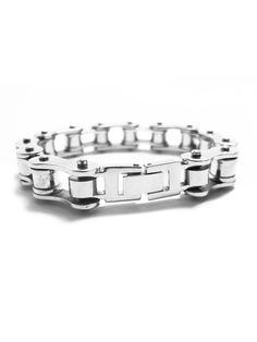 """""""Bicycle Chain"""" Bracelet (Stainless Steel) #InkedShop #InkedMag #Bicycle #Chain #Bracelet"""