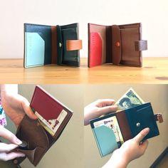 手帳のようなミニ財布/お好きな色でお作りします!