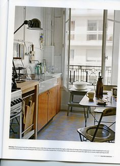 indigoalison: Parisian Lifestyle Envy. Industrial feel for S's interior.