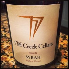 Nittany Epicurean: 2008 Cliff Creek Cellars Syrah