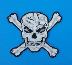 Reflective Patch Skull Cross Bones Night Time patch for Vest Jacket 4 inches  #sturgismidwestinc