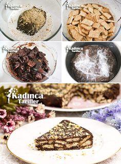 Çikolatalı Cevizli Mozaik Pasta Tarifi