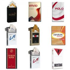 This Djarum packs cigarettes package contains:  1 Pack of Djarum Clavo 1 Pack of Envio Mild 1 Pack of Polo Mild 1 Pack of L.A. Ice Menthol 1 Pack of Djarum Black Cappuccino 1 Pack of Djarum Istimewa 16′s 1 Pack of Djarum Super 12′s 1 Pack of L.A. Lights 1 Pack of Djarum Mustang